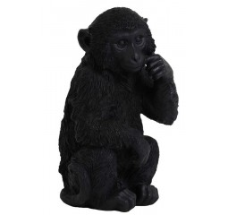 ornament monkey zwart