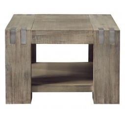 Bijzettafel Bassano L65xB65 acaciahout rough warm grey