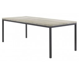 Eettafel Diago 190x90 silver decor