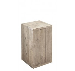 Pedestal Bassano H50 acacia light grey
