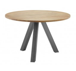 Eettafel Dome Ø120 acacia natural finisch