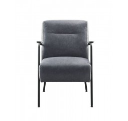 Fauteuil Milezzo polyether zitting donkerblauw