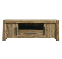 TV-meubel Travi (156 breedte) teak black wash