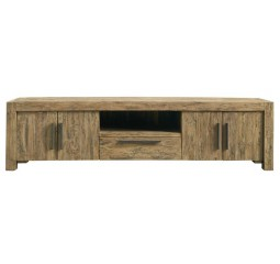 TV-meubel Travi (226 breedte) teak black wash