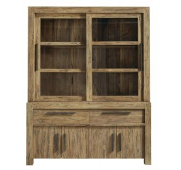 Vitrinekast Travi (156 breedte) teak black wash