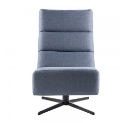 Draaifauteuil Novia polyether zitting denim