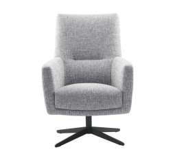 Draaifauteuil Morini pocketveren/visco zitting zinc