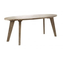 Eettafel Bassano ovaal rough warm grey