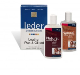 onderhoud leather wax&oil set 2x150 ml