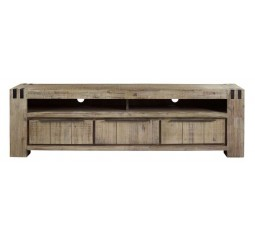 TV-Dressoir Bassano acaciahout rough warm grey