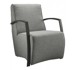Fauteuil Metal HR koudschuim zitting steel