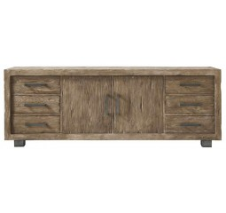 Dressoir Alezio massief grenen antique grey