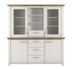 Buffetkast Duarte sterling oak pine white