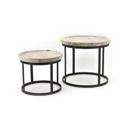 by-boo 1060 set: 2 bijzettafels-coffee table set