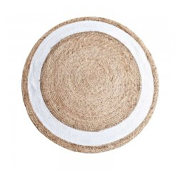 by-boo karpet jute diam. 120cm naturel/white