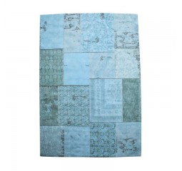 by-boo 6003 carpet patchwork turquoise