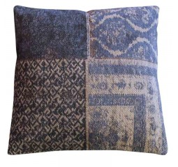by-boo 6095 pillow patchwork dark blue