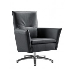 fauteuil mirthe lage rug nero