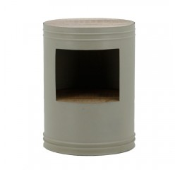 by-boo 1626 sidetable barrel grey