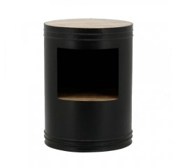 by-boo 1628 sidetable barrel black