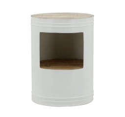 by-boo 1625 sidetable barrel white