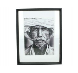 fotoframe wood black 28x36cm