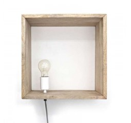 by-boo 0386 light in a box wandlamp - natural