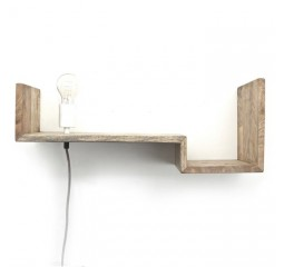 by-boo 0384 topshelf wandplank+lamp - natural