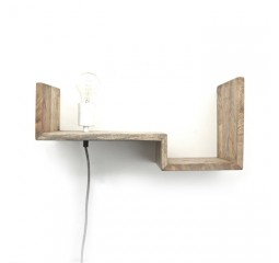 by-boo 0382 topshelf wandplank+lamp - natural