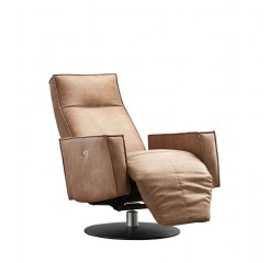 Fauteuil met relax Dimonte caramel