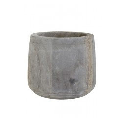 pot deco vialas wood grey
