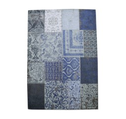 by-boo 6015 carpet patchwork 200x300 cm - dark bl.