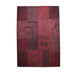 by-boo karpet patchwork 200x300cm rood