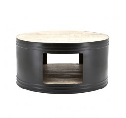 by-boo 1630 coffeetable barrel - black
