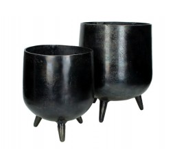planter aluminium black l