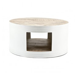 by-boo 1629 coffeetable barrel - white
