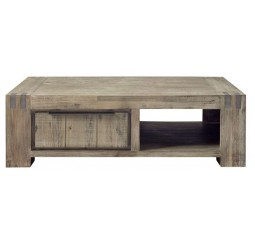 Salontafel Bassano L140xB80 acaciahout rough warm grey