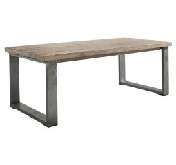 Eettafel 160x90 Alezio massief grenen antique grey
