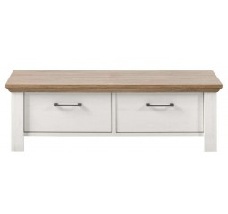 Salontafel Duarte L127xB60 sterling oak pine white