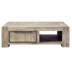 Salontafel Bassano acaciahout light grey L140xB80