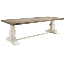 Eettafel Veresa 250x105 acaciahout grey and white brush