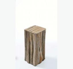 Pedestal Abrega natural wood h60