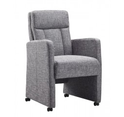 Eetfauteuil Mancini stof sound stone