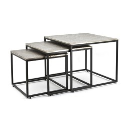 by-boo 1632 coffeetable set trapeze - square