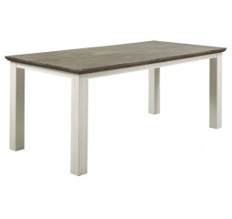 Eettafel Veresa 140x85 old grey/white brush