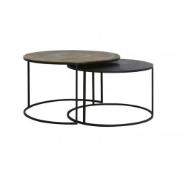 coffee table  s/2 talca koper brons