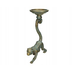 candle holder monkey polyr. gold