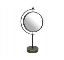 mirror metal grey h44x22.5x12.5cm