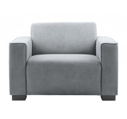 Loveseat Alseno met bies/grey
